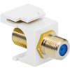ICC IC107B9GWH Gold Plated F/F F-Type Coupler, 3 GHz, White