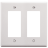 ICC IC107DFDWH 2-Gang Decorex Faceplate - White