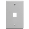 ICC IC107F01GY 1-Gang Flat Faceplate, Gray