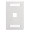 ICC IC107S01WH 1-Port 1-Gang Station ID Faceplate - White