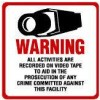 Maxwell DTV-204 CCTV Warning Decal