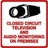 Maxwell STV-205 CCTV and Audio Monitoring Sign