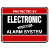 Maxwell YS-103 Security Yard Sign - 11.25 x 8.5 - Red & Black