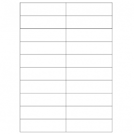 Comelit 1220 Name Tag sheets for 316 Analog Entrance Panel