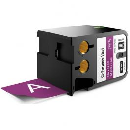 "DYMO 1868795 2"" All-Purpose Vinyl White on Purple Labels"