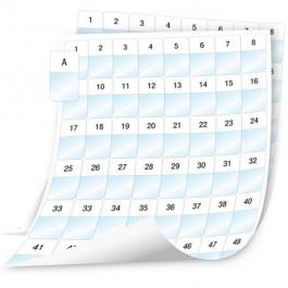 """DYMO 1908553 Laminated Wire/Cable Wrap Sheet Labels - 1"""" x 1-5/8"""""""