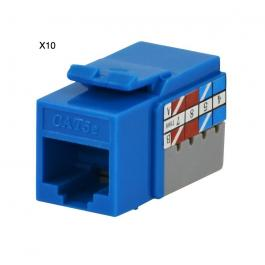 DataComm 20-3425-BL-10 Cat 5e Data Jack, Blue