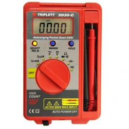 Triplett 2030 Pocket-Sized Autoranging DMM w/ Capacitance