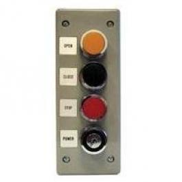 Linear 2500-824 Exterior Three Button Station with Lock