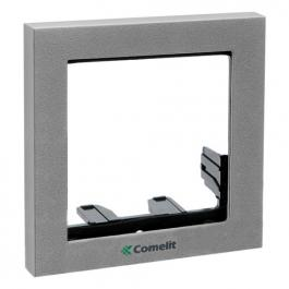 Comelit 3311/1S Module-holder frame complete with cornice for 1 module- Silver colour
