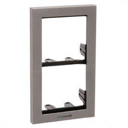 Comelit 3311/2S Module-holder frame complete with cornice for 2 module- Silver colour