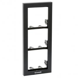 Comelit 3311/3A Module-holder frame complete with cornice for 3 module- Anthracite colour