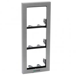 Comelit 3311/3S Module-holder frame complete with cornice for 3 module- Silver colour
