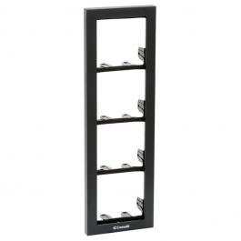 Comelit 3311/4A Module-holder frame complete with cornice for 4 module- Anthracite colour