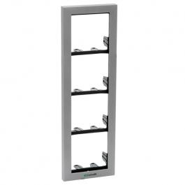 Comelit 3311/4S Module-holder frame complete with cornice for 4 module- Silver colour