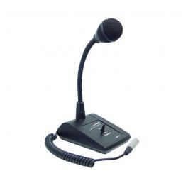 Speco MHL5S Adjustable Gooseneck Tabletop Microphone