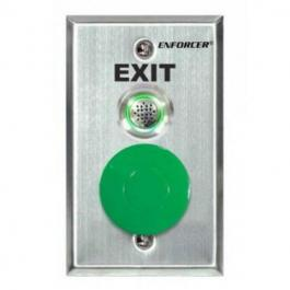 Seco-Larm SD-7217-GSBQ Request-to-Exit Plates with Mushroom-Cap Button