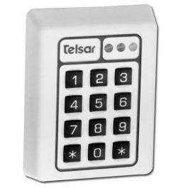 United Security Products T3-WHITE Self Contained, Surface Mount Digital Keypad W/ Shunt - White