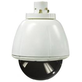 Sony UNI-INL7T2 Indoor, 7-inch pendant mount housing, for SNC-RH124, RS44N, RS46N, RX-Series, and RZ25N. AC 24V input. Clear lower dome.