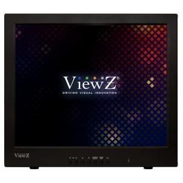"ViewZ VZ-17RTC 17"" Black metal pro-grade 1280x1204 LCD monitor"