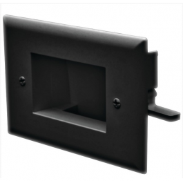 Datacomm 45-0008-BK Easy Mount Low Voltage Cable Plate, Black