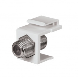 DataComm 20-3202-WH Keystone Jack with 2.4 GHz F-Connector (White)