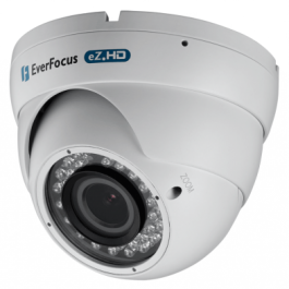 Everfocus EBD935W 720p Analog HD True D/N Outdoor IR Ball Camera White