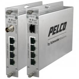 Pelco EC-4BY1SWUPOE-W EthernetConnect 4-Port Self Managed POE Switch Ch