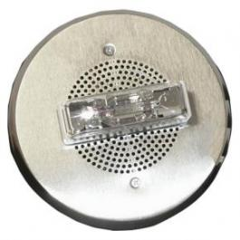 Bosch ET90-24MCC-FN High-Performance Round Speaker Strobe - Nickel