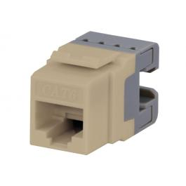 DataComm 20-3426-IV Cat 6 Data Jack, 180 Degree (Ivory)