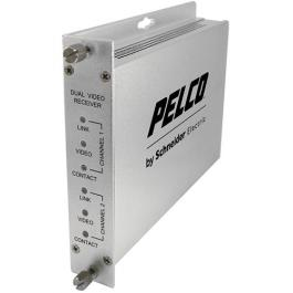Pelco FRV20M2ST 2 Channel Multimode Fiber Receiver w/ST Connector
