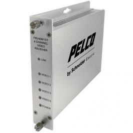 Pelco FRV40M1ST 4-Channel Video Fiber Receiver with MM ST Connector