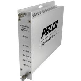 Pelco FRV40S1ST 4-Channel Video Fiber Receiver with SM ST Connector