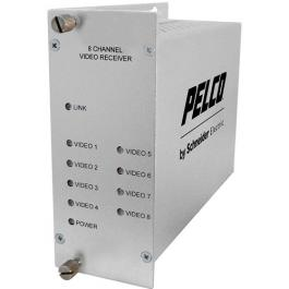 Pelco FRV80S1ST 8 Channel Video Multiplexer RX Singlemode ST Connector