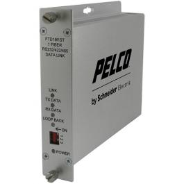Pelco FTD1M1ST Single-Channel Fiber Transmitter Bidirectional Data