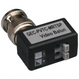 Interlogix GEC-PVTC-MRTSP UTP Passive Video Balun Right Angle Male BNC