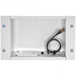Peerless IBA2AC-W In-Wall Accessories Box with 125V Duplex - White