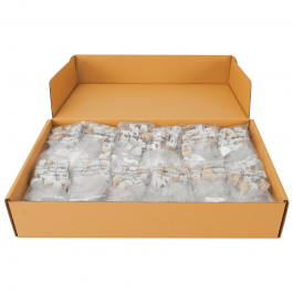 ICC IC1076VVWH RJ-11 EZ Voice Modular Connector 400-Pack White