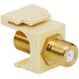 ICC IC107B5GAL Gold Plated F-Type Female To Female Module Almond