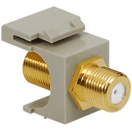 ICC IC107B5GGY Gold Plated F-Type Female To Female Module Gray