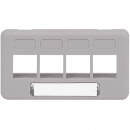 ICC IC107FT4GY 4-Port TIA Furniture Faceplate Gray