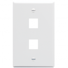 ICC IC107LF2WH 2-Port Single Gang Oversized Faceplate White