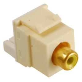 ICC IC107Y8GAL RCA Female-to-IDC Module Yellow Insert Almond