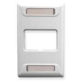 ICC IC108F01WH 1-Port Single Gang Elite Faceplate White