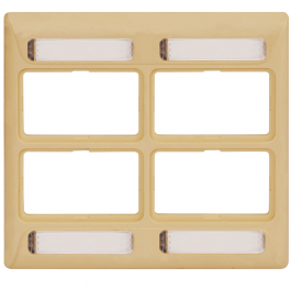 ICC IC108FD4IV 4-Port Double Gang Elite Faceplate Ivory