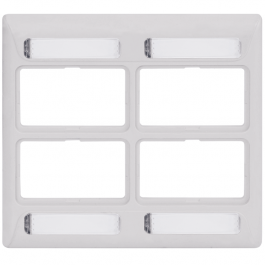 ICC IC108FD4WH 4-Port Double Gang Elite Faceplate White