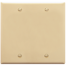 ICC IC630EBDIV Blank Double Gang Faceplate Ivory