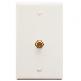 ICC IC630EG0WH F-Type Wall Plate White