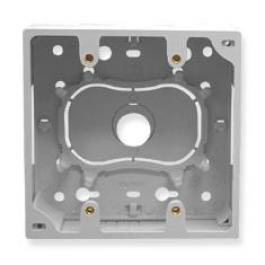 ICC ICACSMBDWH Double Gang Junction Mounting Box - White