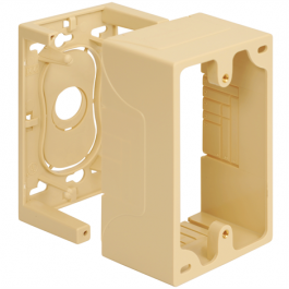 ICC ICACSMBSIV Single Gang Junction Mounting Box - Ivory